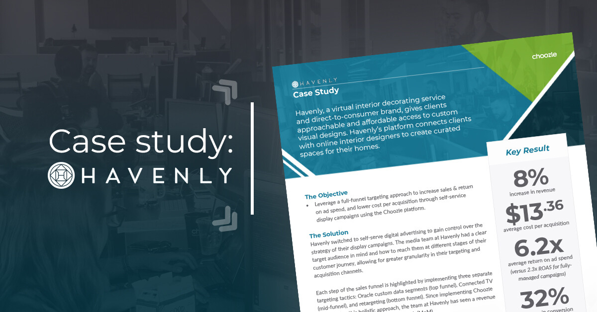 digital marketing case study self serve advertising case study havenly