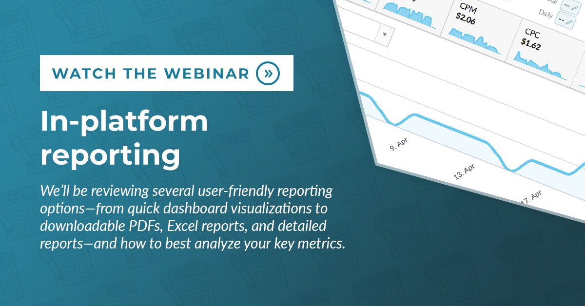 In Platform Reporting Webinar blog post