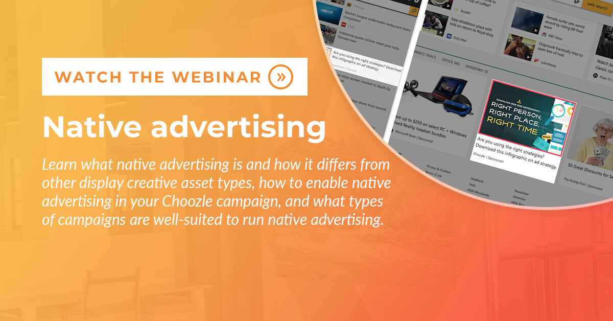 New Feature: Native Advertising Webinar