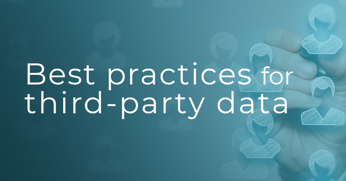 Third party data best practices